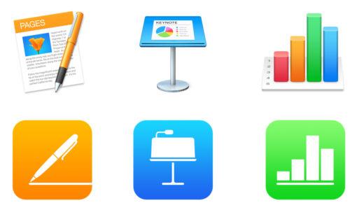 Pages、Numbers、Pages が iOS・macOS 両OS共にアップデート。