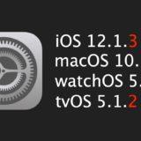 iOS 12.1.3 リリース